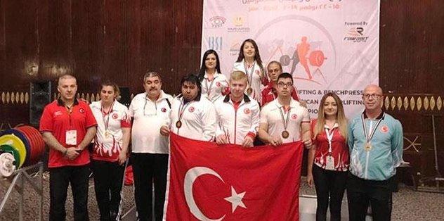 Görme Engelliler Halter Milli Takımı'ndan 13 madalya