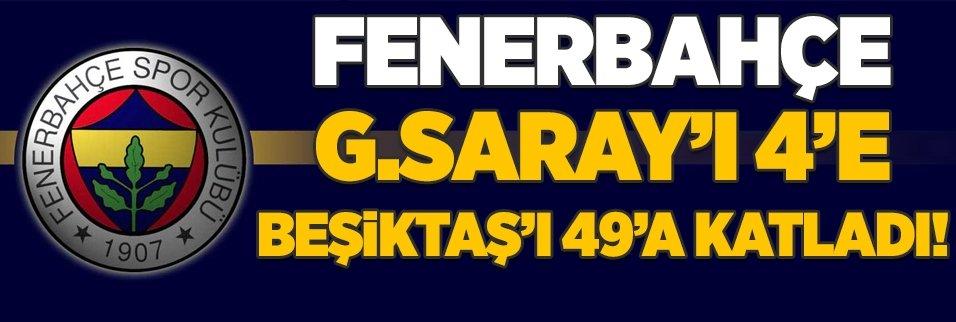 F.Bahçe G.Saray'ı 4'e Beşiktaş'ı 49'a katladı!