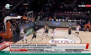 Potada şampiyon Anadolu Efes