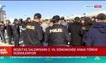 Beşiktaş saldırısının 3. yıl dönümünde anma töreni düzenlendi