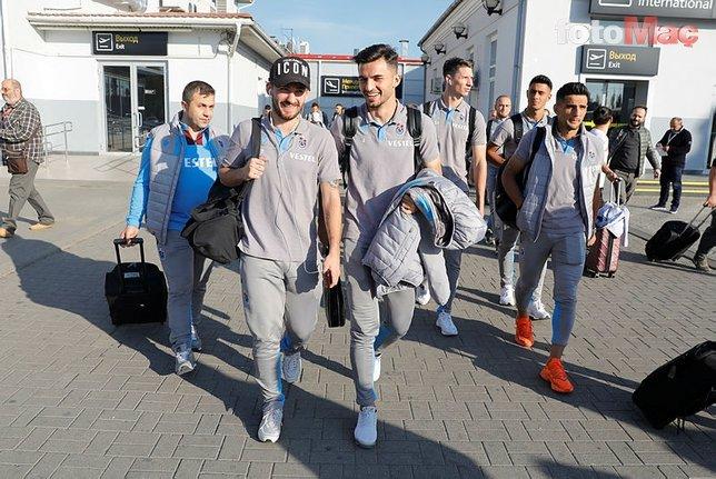 Trabzonspor Krasnodar maçı için Rusya'da
