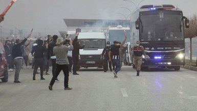Beşiktaş'a Sivas'ta coşkulu karşılama!