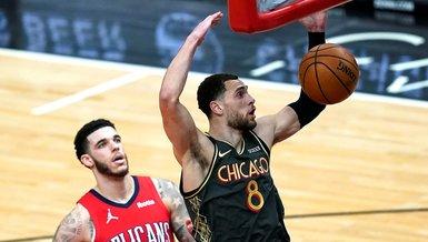 NBA'de Chicago Bulls Pelicans maçında üçlük rekoru kırdı!