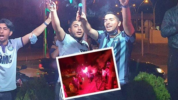 Adana Demirspor Süper Lig'e çıktı sokaklar bayram havasına döndü! İşte o görüntüler... #