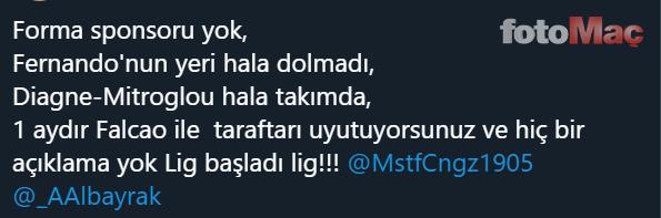 Galatasaray taraftarından yönetime isyan! 'Falcao nerede?'
