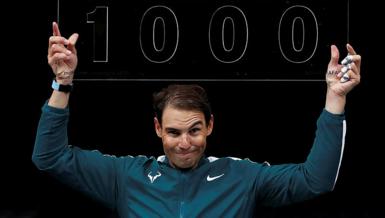 Nadal'dan 1000. tekler galibiyeti!