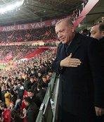 Başkan Erdoğan gole böyle sevindi!