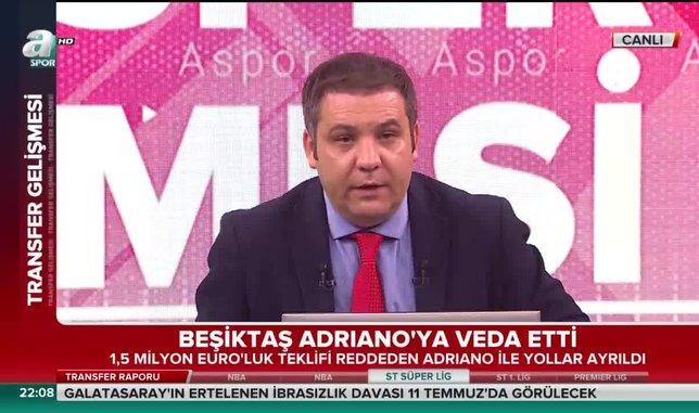 Beşiktaş Adriano'ya veda etti