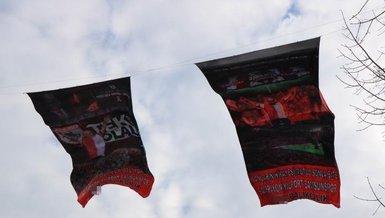 Samsunspor'a tam destek! Bayraklar caddeye asıldı