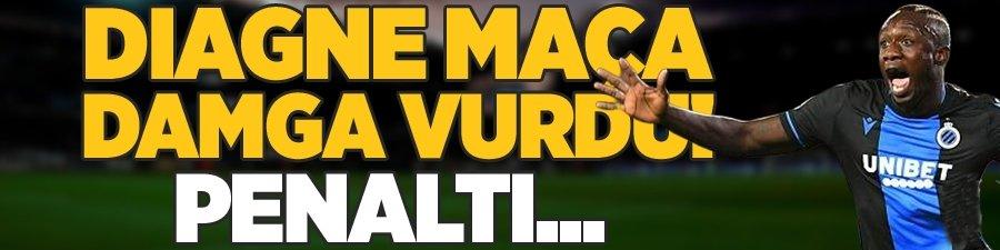 Diagne maça damga vurdu! Penaltı...