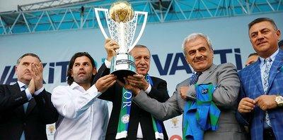 Çaykur Rizespor'da kupa Cumhurbaşkanı'na