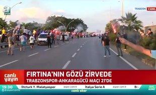 Taraftarlar Trabzonspor'u böyle uğurladı! Büyük coşku