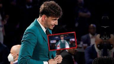 Son dakika spor haberi: Alperen Şengün'ün draft gecesi giydiği ceketteki Türk bayrağı detayı dikkat çekti!