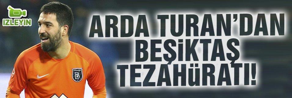Arda Turan'dan Beşiktaş tezahüratı