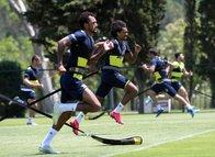 Fenerbahçe hız kesmedi! İşte antrenmandan kareler...