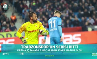 Trabzonspor'un serisi sona erdi