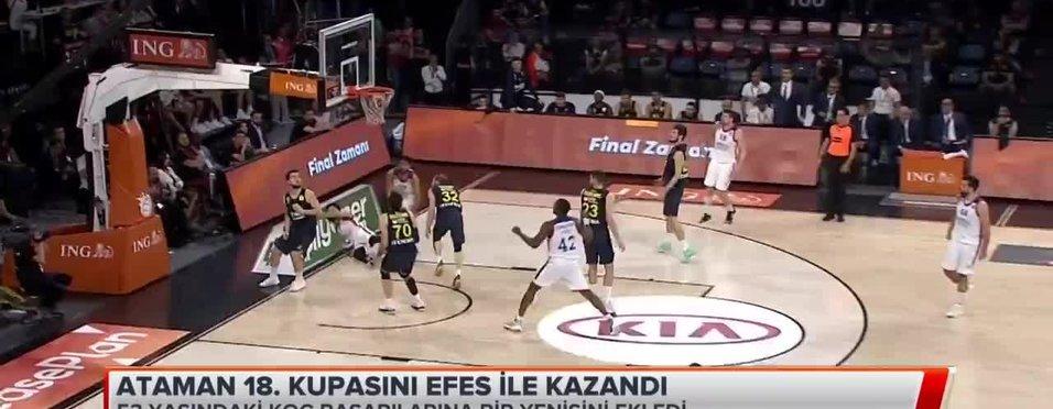 Ataman 18. kupasını Efes ile kazandı