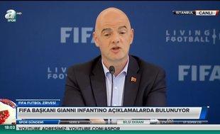 """Gianni Infantino: """"Türkiye büyük şampiyonlara ev sahipliği yapabilir"""""""