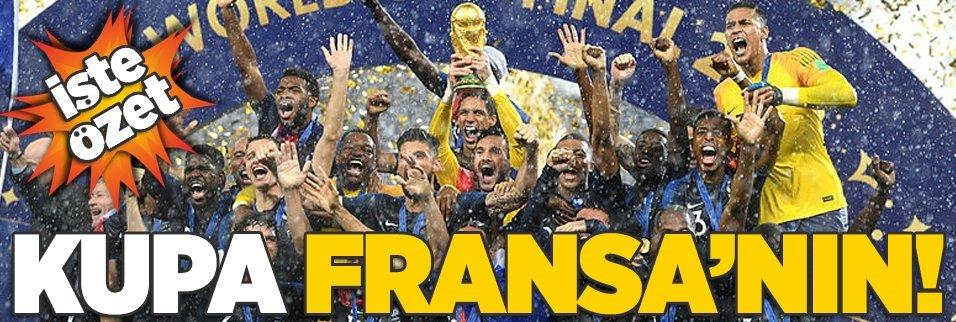 Kupa Fransa'nın! İşte özet...
