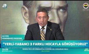 """Ali Koç'tan flaş teknik direktör açıklaması! """"3 isim..."""""""