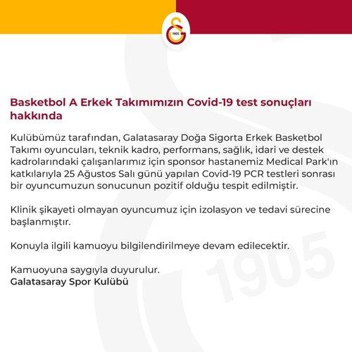 son dakika galatasaray erkek basketbol takiminda corona virusu vakasi 1598533933602 - Son dakika: Galatasaray Erkek Basketbol Takımı'nda corona virüsü vakası!