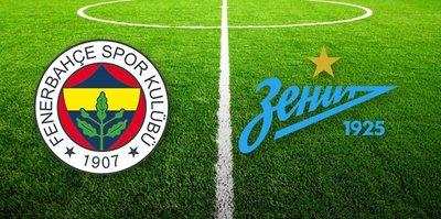 UEFA Avrupa Ligi'nde Fenerbahçe Zenit maçı saat kaçta hangi kanalda yayınlanacak?