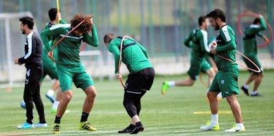 Bursaspor'dan neşeli antrenman