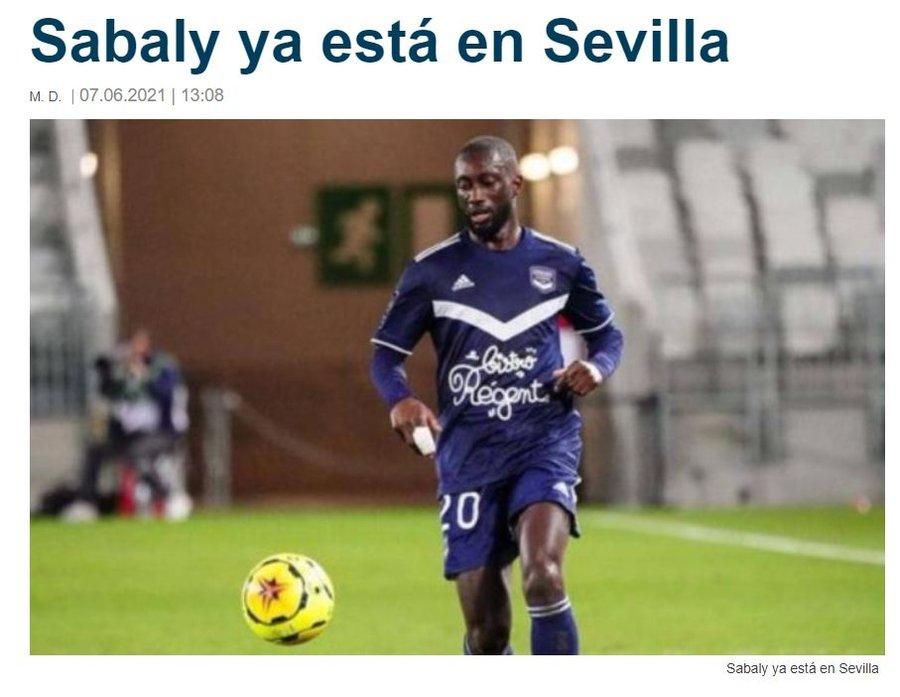 Son dakika transfer haberi: Trabzonspor'un ilgilendiği Youssouf Sabaly Real Betis'le anlaştı