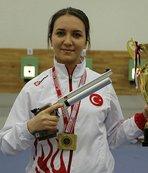 Silah ustası babanın kızı olimpiyatlara hazırlanıyor