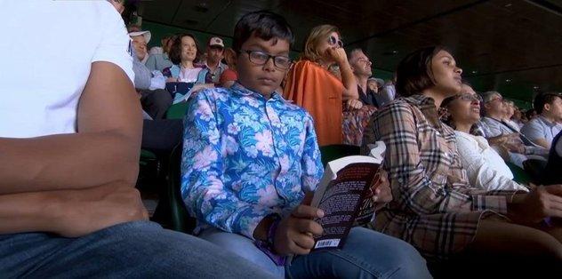 Federer Nadal maçında öyle bir görüntü vardı ki... Küçük çocuk ilgi odağı oldu!