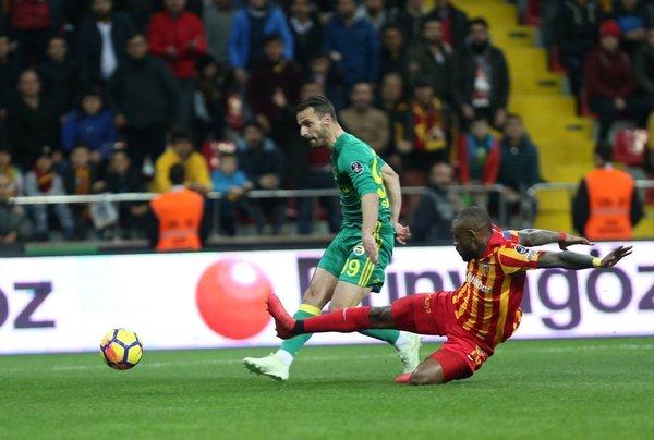 İşta Kayserispor - Fenerbahçe maçından kareler...