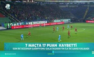 Galatasaray 7 haftada 17 puan kaybetti!