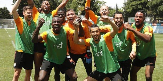 Galatasaray'da neşeli idman