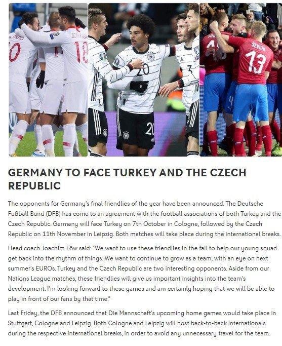 Son dakika: Almanya ile Türkiye hazırlık maçı yapacak! İşte tarihi... - Futbol -