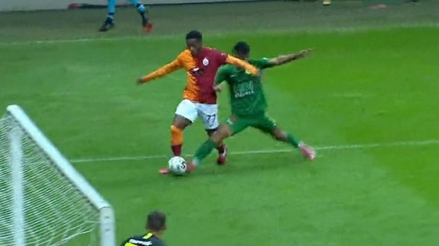 Here he found the face of the penalty Darica Genclerbirligi Galatasaray Agriculture, Turkey Cup goal!  #