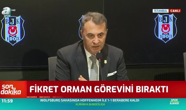 Fikret Orman istifa etti