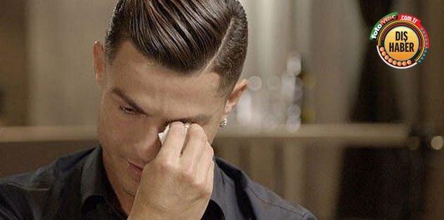 Ronaldo babasıyla ilgili soruya ağlayarak cevap verdi