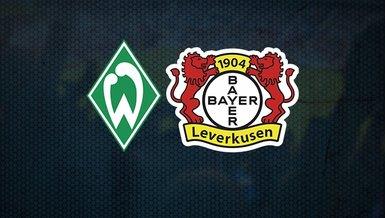 Werder Bremen-Bayer Leverkusen maçı ne zaman, saat kaçta ve hangi kanalda CANLI yayınlanacak? Muhtemel 11'ler...
