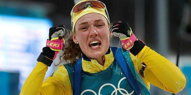 Kadınlar Biatlon'da altın madalya Hanna Oeberg'in