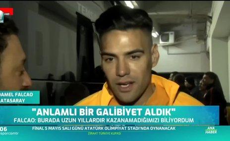 Falcao ve Ömer Bayram'dan maç sonu açıklamalar