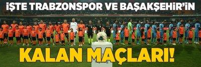 İşte Trabzonspor ve Başakşehir'in kalan maçları