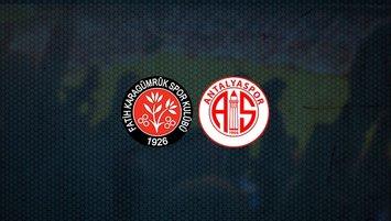 Karagümrük - Antalyaspor maçı saat kaçta ve hangi kanalda?