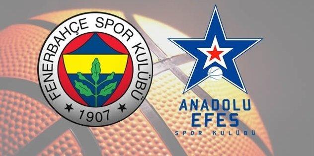 Euroleague'de dev heyecan! Fenerbahçe - Anadolu Efes...