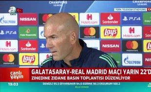 Zinedine Zidane: 3 puan almak istiyoruz