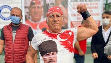 71 yaşındaki sporcu tarihe geçti! Tam 97 ton...
