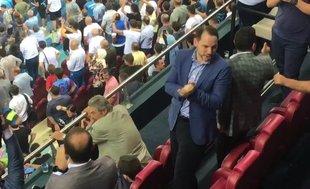 Hazine ve Maliye Bakanı Berat Albayrak'ın gol sevinci