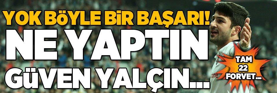 Güven Yalçın attığı 3 golle 22 forveti geride bıraktı