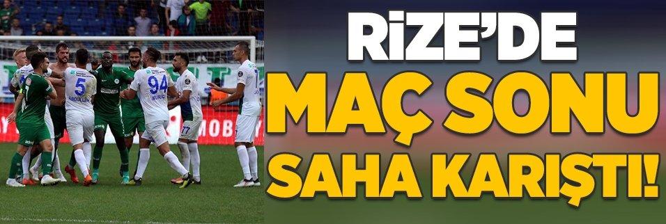Rize'de maç sonu ortalık karıştı!