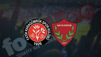 Karagümrük - Hatayspor maçı saat kaçta? Hangi kanalda?