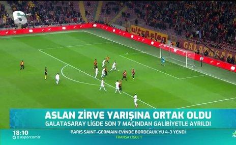 Galatasaray zirve yarışına ortak oldu